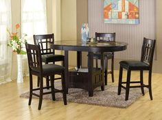5 Piece Counter Height Dining Set with StorageKincaid Furniture 46 058 Somerset Tall Dining Table  Espresso  . Kincaid Stonewater Tall Dining Table. Home Design Ideas