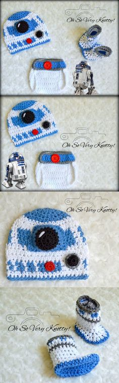 9ea31095848 Hats 163224  3-6 M Baby R2d2 Crochet Hat