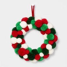 Christmas Pom Pom Crafts, Preschool Christmas Crafts, Christmas Activities, Xmas Crafts, Kids Christmas, Christmas Wreaths, Christmas Decorations, Christmas Ornaments, Holiday Decor