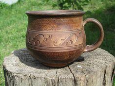 pottery mug handmade clay mug ceramic mug handmade large coffee mug rustic mug clay cup 16 oz mug wh Large Coffee Mugs, Ceramic Coffee Cups, Unique Coffee Mugs, Stoneware Mugs, Pottery Tools, Pottery Mugs, Ceramic Pottery, Pottery Ideas, Pottery Shop