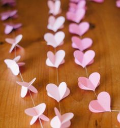 DIY: Strung Coronary heart Garland - Time-consuming, however think about it in restricted applicatio. DIY: Strung Coronary heart Garland – Time-consuming, however think about it in restricted software, like hanging from paper lanterns Valentines Bricolage, Valentine Crafts, Be My Valentine, Saint Valentin Diy, Diy And Crafts, Paper Crafts, Valentine Decorations, Heart Decorations, Wedding Decorations