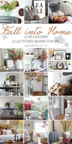 Such a beautiful Fall Home Tour filled with neutral decor and simple decorating ideas. Fall Home Decor, Autumn Home, Autumn Decorating, Decorating Ideas, Decor Ideas, Porch Decorating, Interior Decorating, Craft Ideas, What A Nice Day