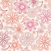 pink and purple flowers in vector fabric by anastasiia-ku for sale on Spoonflower - custom fabric, wallpaper and wall decals
