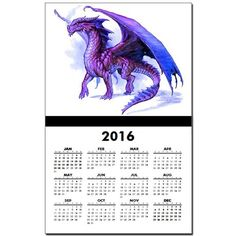 Purple Dragon Calendar Print on CafePress.com