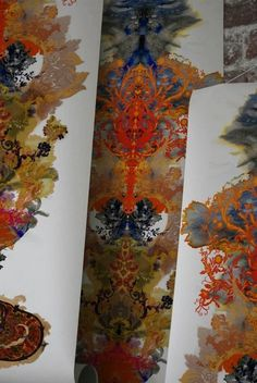 Amazingly bold wallpaper from Timorous Beasties in Scotland.