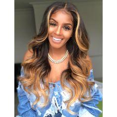 360 Lace Wigs Pre Plucke body wave With Babyhair Ombré Hair, Wavy Hair, Hair Cut, Wig Styles, Curly Hair Styles, Lace Front Wigs, Lace Wigs, Blonde Weave, Honey Blonde Hair