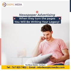 No matter how modern and advanced technology gets - Newspapers are here to stay! Maximize your brand outreach and revenue with the top newspaper advertising agency in India - Exopic Media. Call us: 7678237402 Email: info@exopicmedia.com #newspaperads #newspaperadvertising #pages #legacy #ExopicMedia #modern #advancetechnology #newspapers #maximize #brand #brandoutreach #revenue #newspaperadvertisingagency #advertisingagency #printmedia #newspaperclassified
