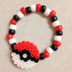 Hey, I found this really awesome Etsy listing at https://www.etsy.com/listing/186688710/one-pokemon-pokeball-perler-hair-bow-and