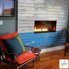 Steel Fireplace Surround | Hand made custom fireplace. Ironhaus ...