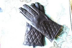 Luxurious vintage 80s dark chocolate brown quilted  by VezaVe