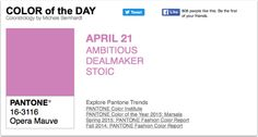 APPart – Mobile Art – Pantone Color of the Day – 'Opera Mauve' – TheAppWhisperer