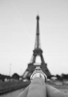 Paris love #engagement #ring