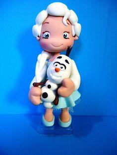 topo de bolo biscuit Elsa Frozen