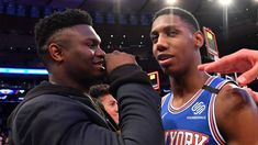 New York Knicks rookie RJ Barrett told Sky Sports NBA playing alongside former college team-mate Zion Williamson in the NBA would be 'a lot of fun'.'Source : www.skysports.com Nba Trade Rumors, Nba Scores, Nba News, New York Knicks, Lebron James, Espn, College, Sports, Hs Sports