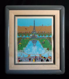 MODERNIST SIGNED SERIGRAPH TITLED EIFFEL TOWER, #188/450 BY JACQUES ROVOULE (sold) #Modernism