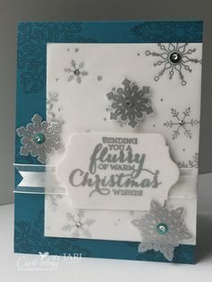 Stampin' Up! Flurry of Wishes Christmas Card and Fab Friday Challenge