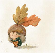 Autumn Illustration, Family Illustration, Plant Illustration, Character Illustration, Cartoon Girl Images, Cartoon Girl Drawing, Little Girl Illustrations, Autumn Painting, Art Techniques