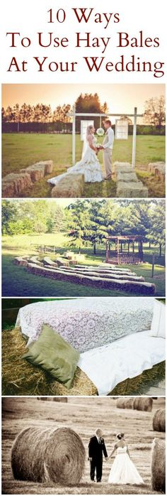 10 of the best ways to use hay bales at your western, country, or rustic wedding.
