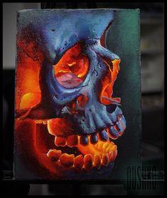 Skull tattoo on sketch (on paper) realistic by Viktor Dushko Large Tattoos, Unique Tattoos, Cool Tattoos, Fun Tattoo, Tattoo Flash, Tattoo Ideas, Skull Tattoos, Tribal Tattoos, Metallica