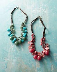 Chan Luu for Garnet Hill Cascading Necklace