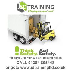 Think safety act safely with J & D Training http://ift.tt/1HvuLik #forklift #training #safety #jobsearch