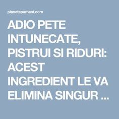 Ingredientul care iti ofera un ten mai curat, mai luminos si mai sanatos How To Get Rid, Alter, Good To Know, Remedies, Health Fitness, Mai, Apothecary, Kiss, Pandora