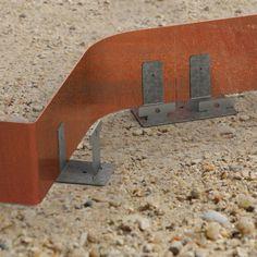Bordure acier Corten (aspect fer oxydé rouille) long. 2.50 Mètres