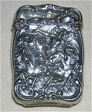 Elaborate  Match Safe Horses, woman in RELIEF