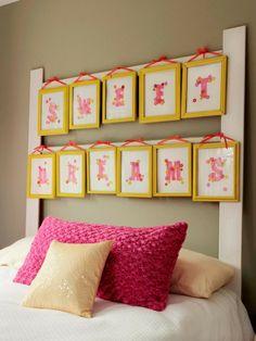 schlafzimmer einrichtung bettkopfteil bilderrahmen