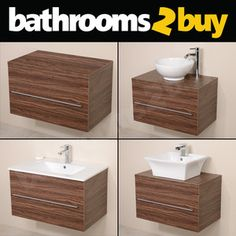 The Awesome Web Bathroom Vanity Unit Walnut Furniture Wall Hung Mounted Countertop Basin Sink