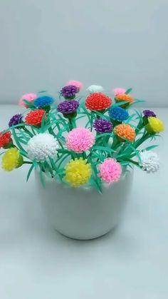 Paper Flowers Craft, Flower Crafts, Diy Flowers, Fabric Flowers, Flower Diy, Diy Crafts For Home Decor, Diy Arts And Crafts, Origami Tutorial, Flower Tutorial
