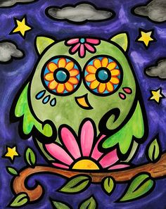 This looks like an owl my Ella would paint!