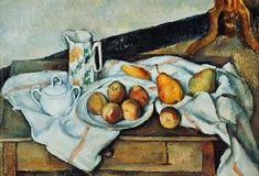 Paul Cézanne - Still Life with Carafe, Sugar Bowl, Bottle and Fruits