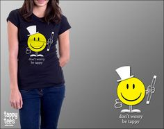 Tap Dance T-Shirt: Don't Worry Be Tappy. $25.00, via Etsy.
