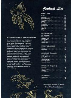 Leos-Hideaway-Restaurant-Menu, Louisville-Kentucky