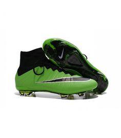newest 99c52 1e0aa Acheter Nouveau Chaussure de Football Nike Mercurial Superfly CR FG Vert  Noir pas cher en ligne