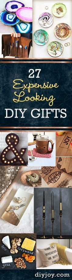 DIY Gift Ideas for Women, Men, Teens - Expensive Looking Crafts and Projects that Make Cool DIY Gift Ideas on a Budget!