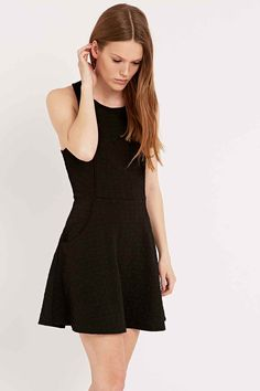 Silence + Noise Cross-Back Dress in Black