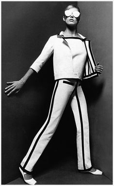 André Courrèges, Suit, photographed by Willy Rizzo, 1965