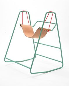 The Rocking Swing, designed by Clara Rivière and Tobias Nickerl. (Photo: Véronique Huyghe) #POTD ProductOfTheDay #Design #Chair #Swing#SurfaceMag