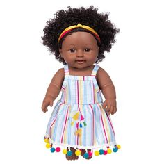 Doll With Hair, African Dolls, Little Brown, Black Babies, Brown Girl, Baby Dolls, Crochet Hats, Packing, Toys