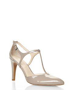 C21 Shoes- FRANCO SARTO Light Taupe Ivana T-Strap Pumps