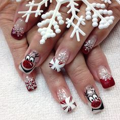 """""""Ridiculously rambunctious Rudolph. So happy ❤️"""" Photo taken by @professionalnailss on Instagram, pinned via the InstaPin iOS App! http://www.instapinapp.com (12/13/2015)"""