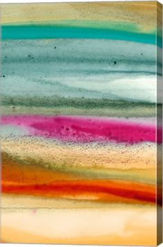 Sunset Splash C Abstract Canvas Wall Art Print by Tracy Hiner