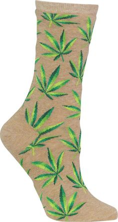 Get some sneaker reefer madness with cannabis crew socks!