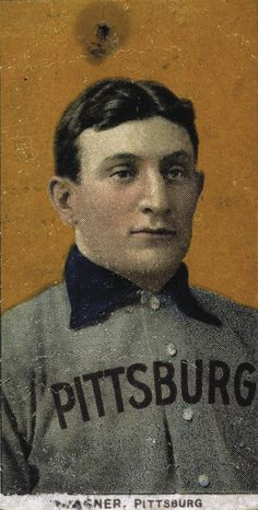 The T206 Honus Wagner baseball card depicts Pittsburgh Pirates' Honus Wagner, a dead-ball era baseball player who is widely considered to be one of the best players of all time.