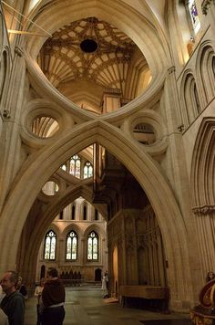 Architecture in Wells Cathedral, Somerset
