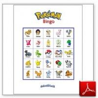Printable Pokemon Bingo - Boys Birthday Party Game