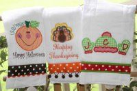 Monogrammed Holiday Burp Cloth Set of 3 [509] - $44.00 : Best Personalized Baby Clothes| Custom Knits for Baby| Sweaters| Baby Gifts
