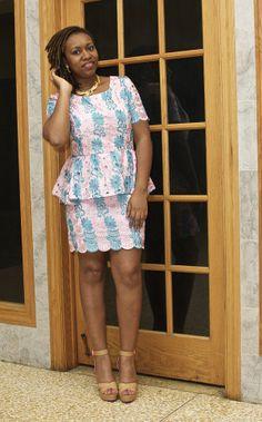 DIY Peplum Lace Dress ~African fashion, Ankara, kitenge, African women dresses, African prints, African men's fashion, Nigerian style, Ghanaian fashion ~DKK